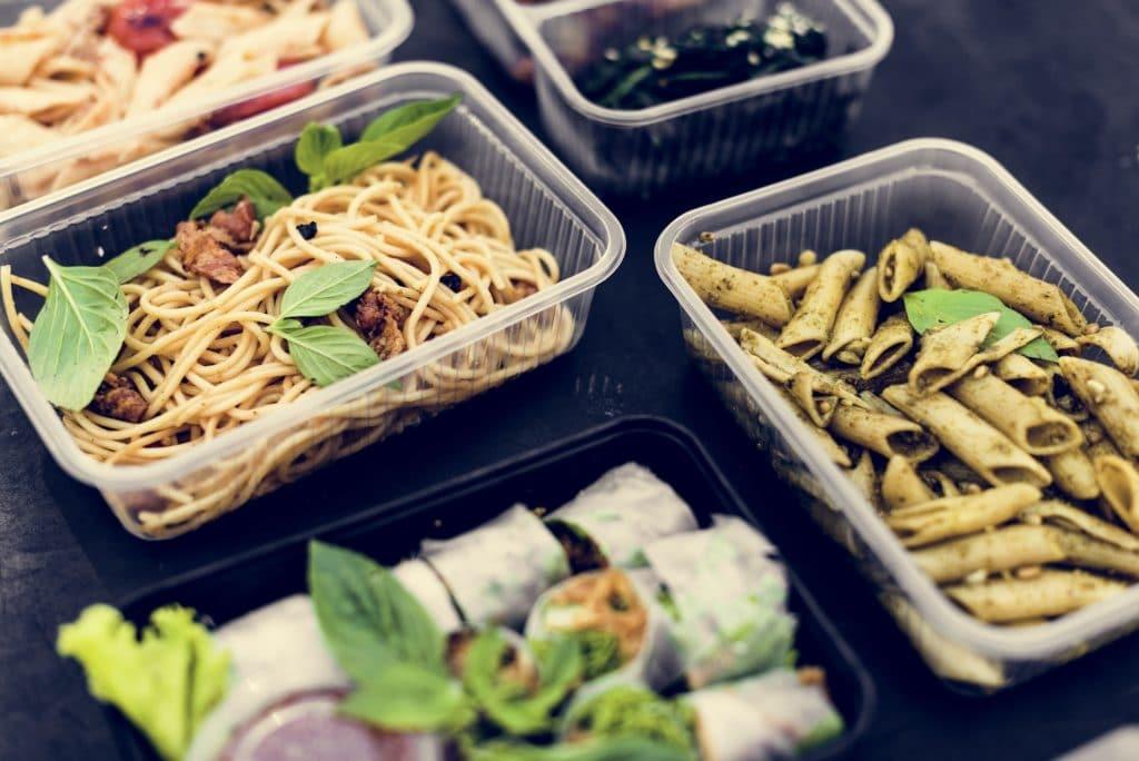 Closeup of healthy food